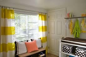 Orange And White Striped Curtains Gender Neutral Baby Nursery Design Dazzle