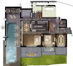 Modern Houseplans by Modern House Plans With Pool Home Act