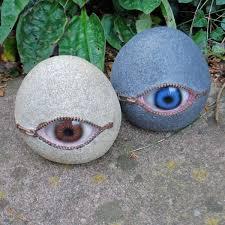 eyeball garden ornaments interesting and of creepy