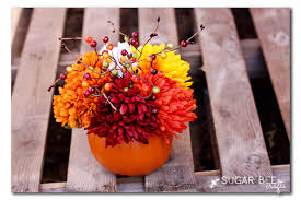 fall flower arrangements fall flower pumpkin arrangement sugar bee crafts
