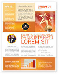 star of the best newsletter template for microsoft word u0026 adobe