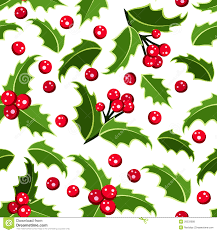 seamless background with christmas holly royalty free stock
