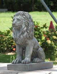 lion statue hi line gift ltd sitting lion statue reviews wayfair
