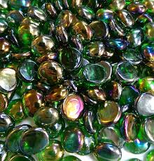 Glass Vase Filler Creative Stuff Glass 500 Pcs Crystal Irid Green Glass Gems Flat