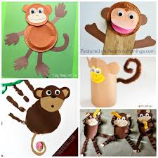Paper Plate Monkey Craft - 50 zoo animal crafts for i crafty things
