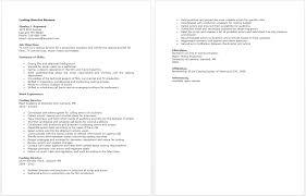 Audition Resume Sample Sample Resume For Casting Directors It Resume Sample Pdf