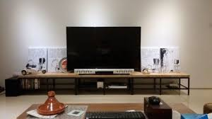 ikea console hack birch steel tv console ikea hacked
