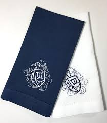 hanukkah dreidel cloth napkins set of 4 napkins blue napkins