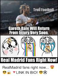 Injury Meme - troll football fp gareth bale will return from injury very soon