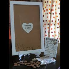 wedding guest book picture frame wedding guest book frame terrier firma