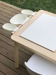 Ikea Childrens Picnic Table by Upgrade The Flisat Children U0027s Table With A Simple Mod Ikea Hackers