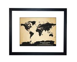 anniversary gifts personalized world map personalized family travels map anniversary gift idea