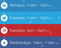 the best time to post to social media during the holidays
