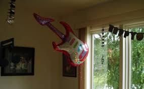 Musical Note Decorations Teen Birthday Party Idea Guitars And Music Notes Decorations