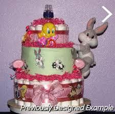 baby diaper cakes baby looney tunes diaper cake