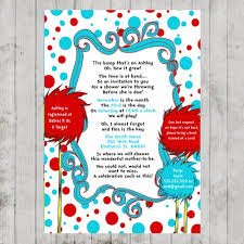 dr seuss baby shower invitations dr seuss baby shower invite dr seuss lorax baby shower invitation