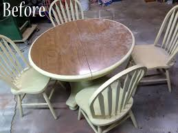 laminate table top refinishing faux planked table transformation reality daydream