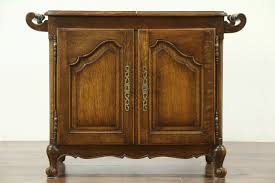 Flip Top Bar Cabinet Sold Oak Carved Antique Flip Top Bar Cabinet Raised Panels
