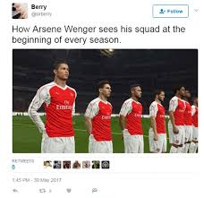 English Premier League Memes - arsene wenger and arsenal memes twitter reacts daily mail online