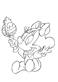 baby minnie mouse coloring pages glum