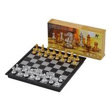 amazon com nobe folding magnetic travel chess set toys u0026 games