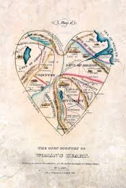 True Map Of The World The History Blog Blog Archive A Map Of A 19th C Woman U0027s Heart