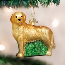 world golden retriever glass tree ornament 3 5 inch