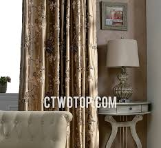 brown jacquard embroidery french country curtains