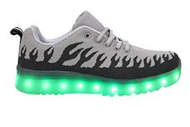 size 5 light up shoes amazon com gs led light up shoes usb charging mens fashion