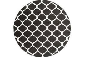 White Round Rugs 8 Foot Round Rugs Living Spaces