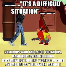 it s a difficult situation numerous wage and labor