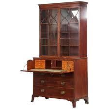 Secretary Desk With Hutch by English George Iii Mahogany Antique Secretary Desk With Bookcase