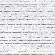 Pink Brick Wall White Brick Backdrop Chic White Brick Wall Printed Fabric
