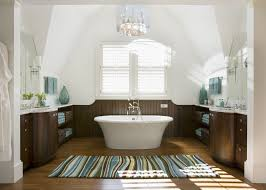 Rugs In Bathroom Contemporary Master Bathroom With Wainscoting By Siemaskoverbridge