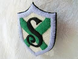 harry potter slytherin stylized shield felt ornament platform 9