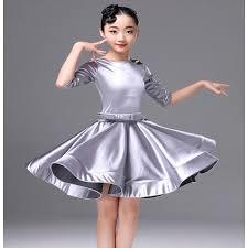 blue child latino dancing kids costume latin salsa dress for