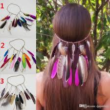 hippie hair accessories bohemia style women peacock feather headband hippie hair