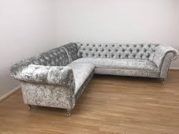 Chesterfield Sofa With Chaise by Silver Sofas Home Design