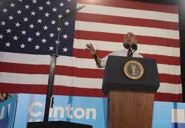 Charlotte Flag President Obama Holds Friday Charlotte Rally For Clinton