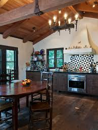 Mediterranean Kitchen Designs Modern Rustic Design Kitchen Wood Covered Ceiling With Beams