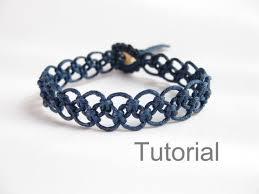 bracelet macrame patterns images Tutorial macrame bracelet pattern pdf easy navy blue knotted step jpg