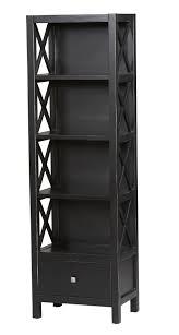 decor elegant unique thin bookshelf brown cabinet shelves