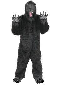 gorilla halloween mask grizzly bear costume buycostumes com