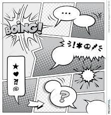 comic book page template illustration 37709123 megapixl