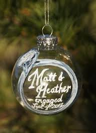 personalized wedding rings hand painted glass christmas ornament