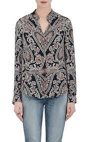 paisley blouse l agence paisley silk blouse barneys warehouse