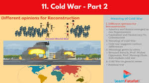 cold war ssc board maharashtra class 10 history meaning of cold