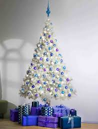 Blue And Silver Christmas Tree - white and blue christmas tree ideas rainforest islands ferry