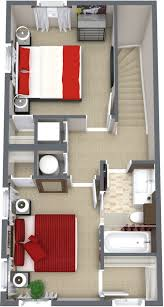 Upstairs Floor Plans by The Glenn 3 Bdr 2 Bath 1125 Sq Ft Home The Farm At Buena Vista