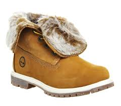 womens fur boots uk timberland fur fold boots wheat nubuck ankle boots